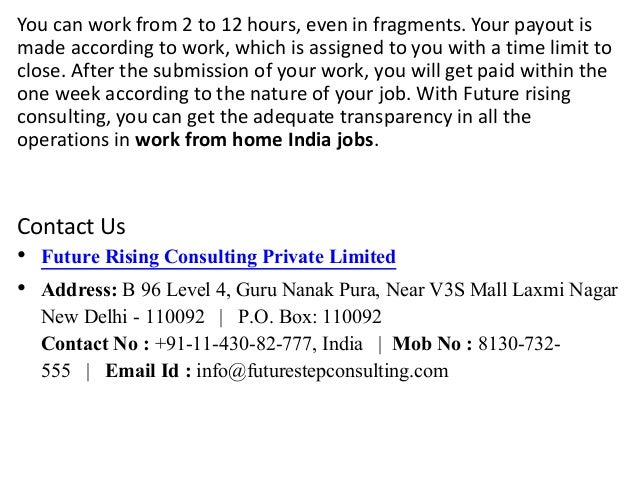 Work from home online jobs in india ppt