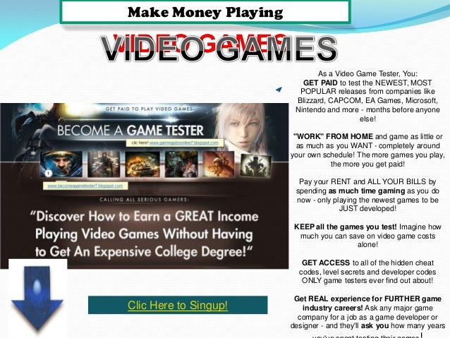 Work From Home Playing Games
