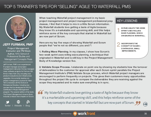 Transitioning From Waterfall To Agile Lessons From 20 Experts