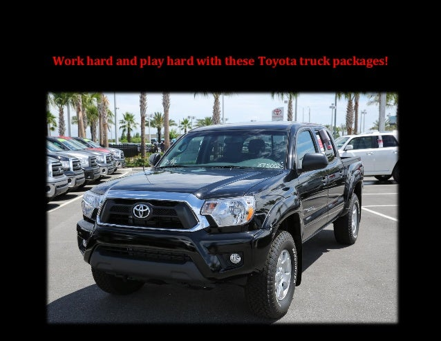 Work hard and play hard with these Toyota truck packages!