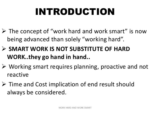 hard work and smart work essay