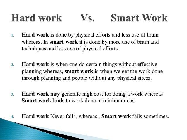 Hard work vs smart work presentation