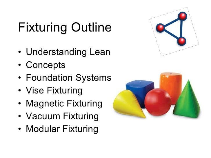 Fixturing Outline <ul><li>Understanding Lean </li></ul><ul><li>Concepts </li></ul><ul><li>Foundation Systems </li></ul><ul...