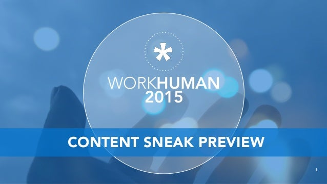 WORKHUMAN 2015 1 CONTENT SNEAK PREVIEW