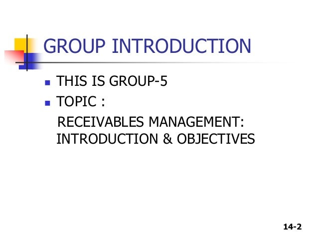 objectives of receivables management pdf