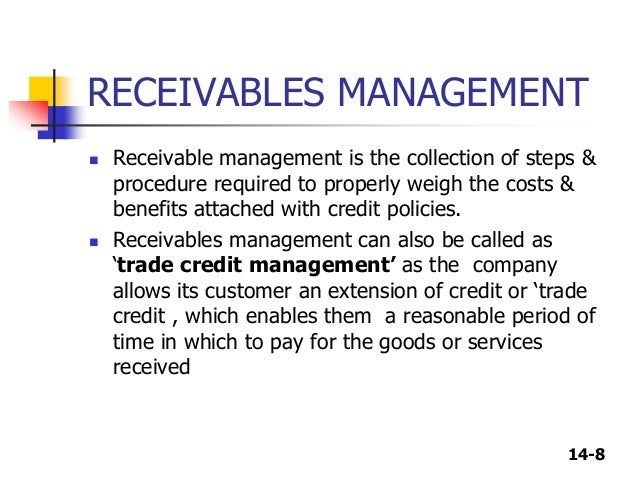 objectives of receivables management pdf