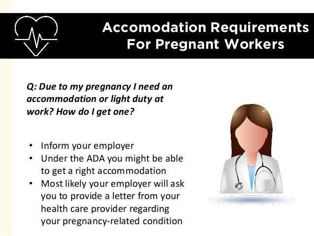Working while pregnant 7 most pressing questions answered 10 accomodation requirements for pregnant workers inform your employer spiritdancerdesigns Image collections