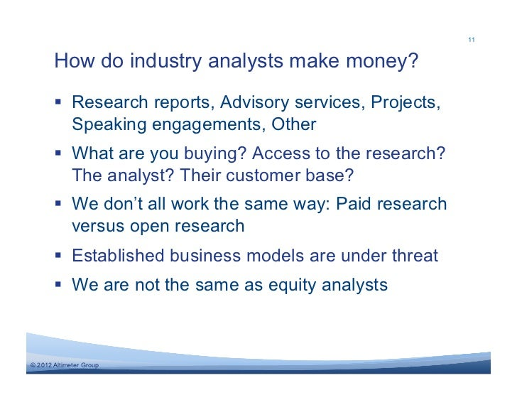 working with industry analysts