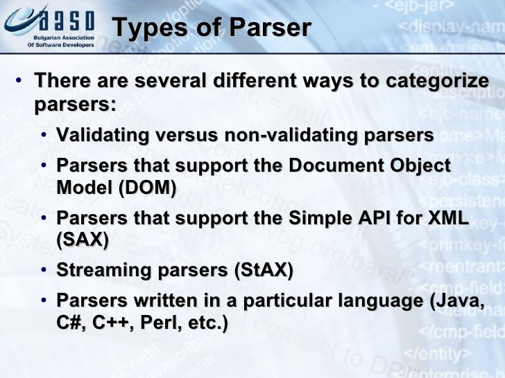 Non validating dom parser