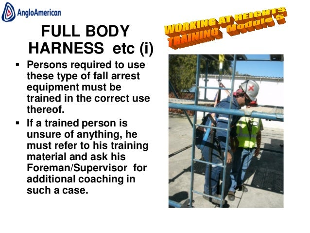 Working at heights training powerpoint