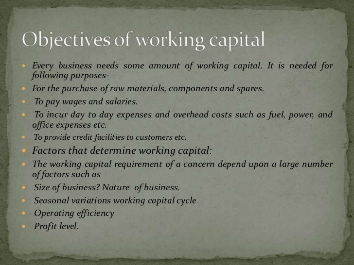  The working capital requirements should be met both  from short term as well as long term sources of funds. Financing o...