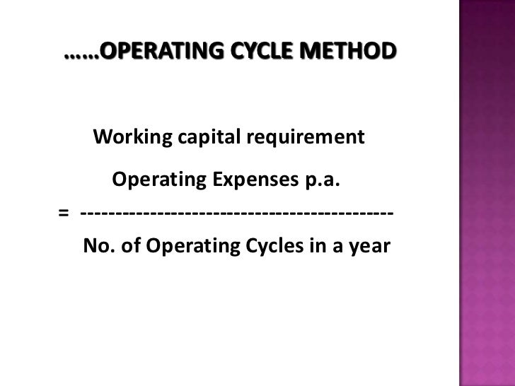 Working Capital Position