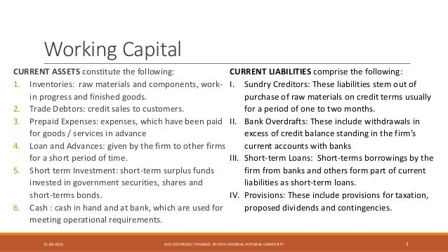 working capital management 3 Study fin410 working capital management from university of phoenix view fin410 course topics and additional information.