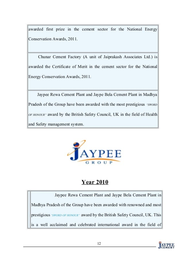 project report on working capital management in jaypee cement limited Welcome to jaiprakash power ventures limited we are an indian power company, incorporated on dec 21, 1994, that is part of india's leading infrastructure.