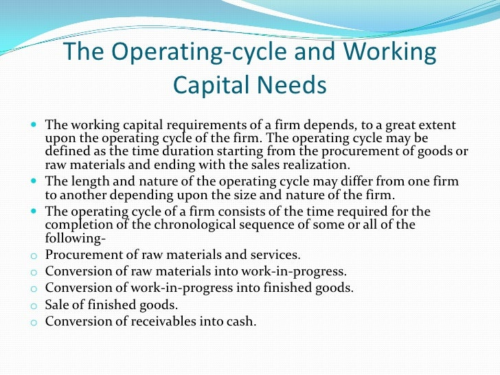 Operating cycle of a typical company                                                                                Receiv...