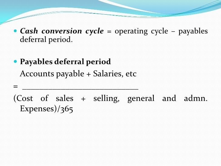 Determinants of Working capital               Requirement   General nature of business   Production cycle   Business cy...