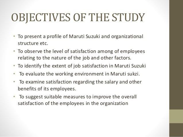 Objectives of study on working capital