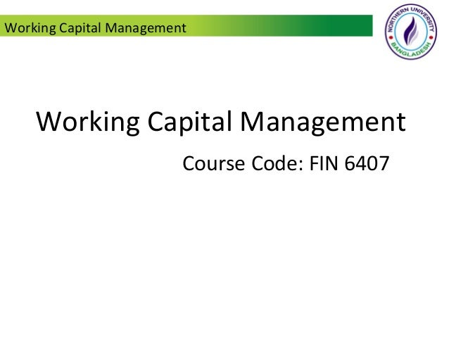 working growth capital relief training syllabus