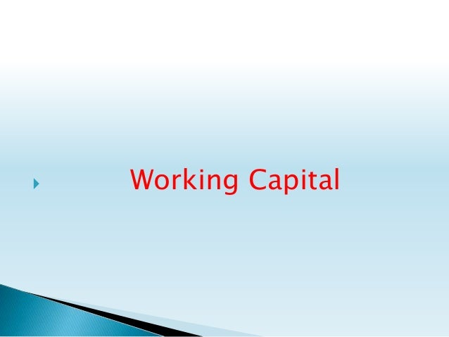 what is working capital pdf