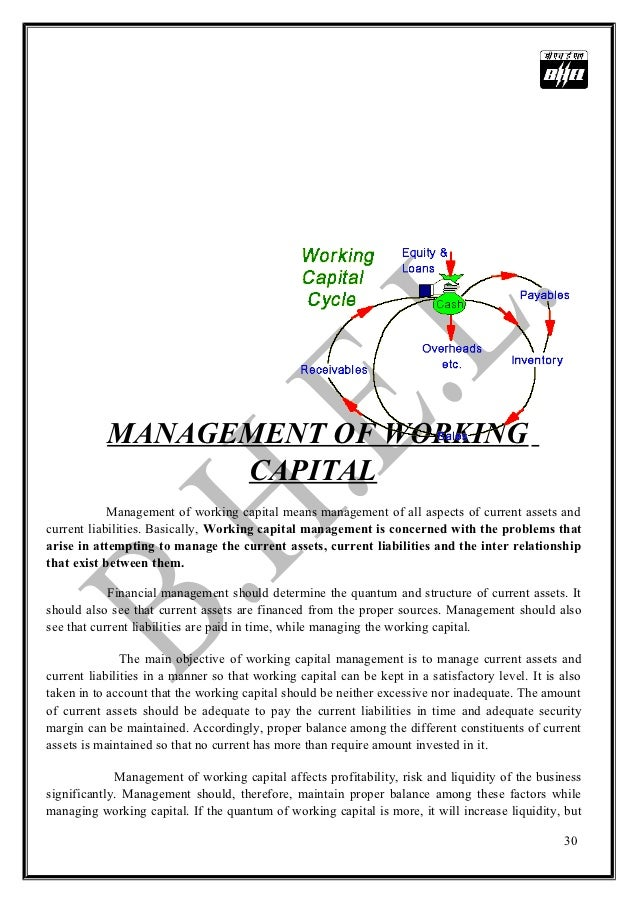 how to manage working capital pdf
