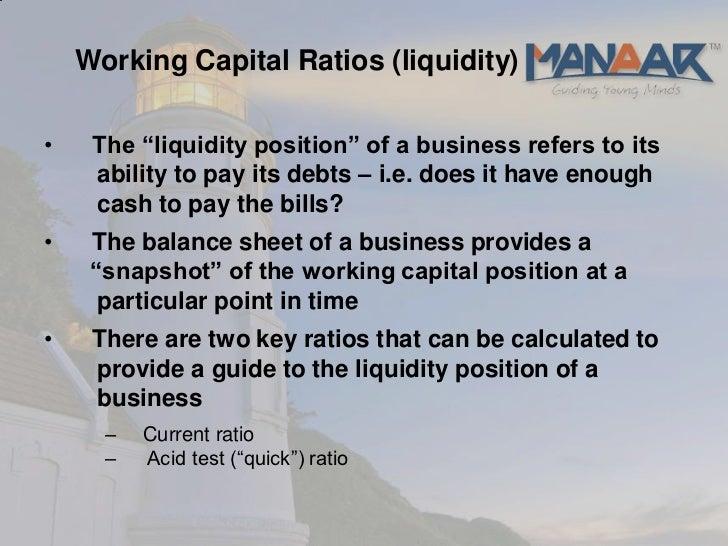 working capital formula pdf