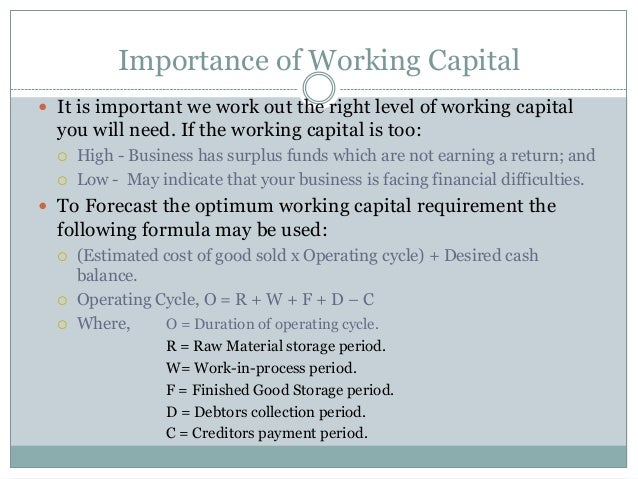 importance of working capital European companies could release a total of €997bn of cash from working capital if they match upper quartile performance in their sector €370m each.