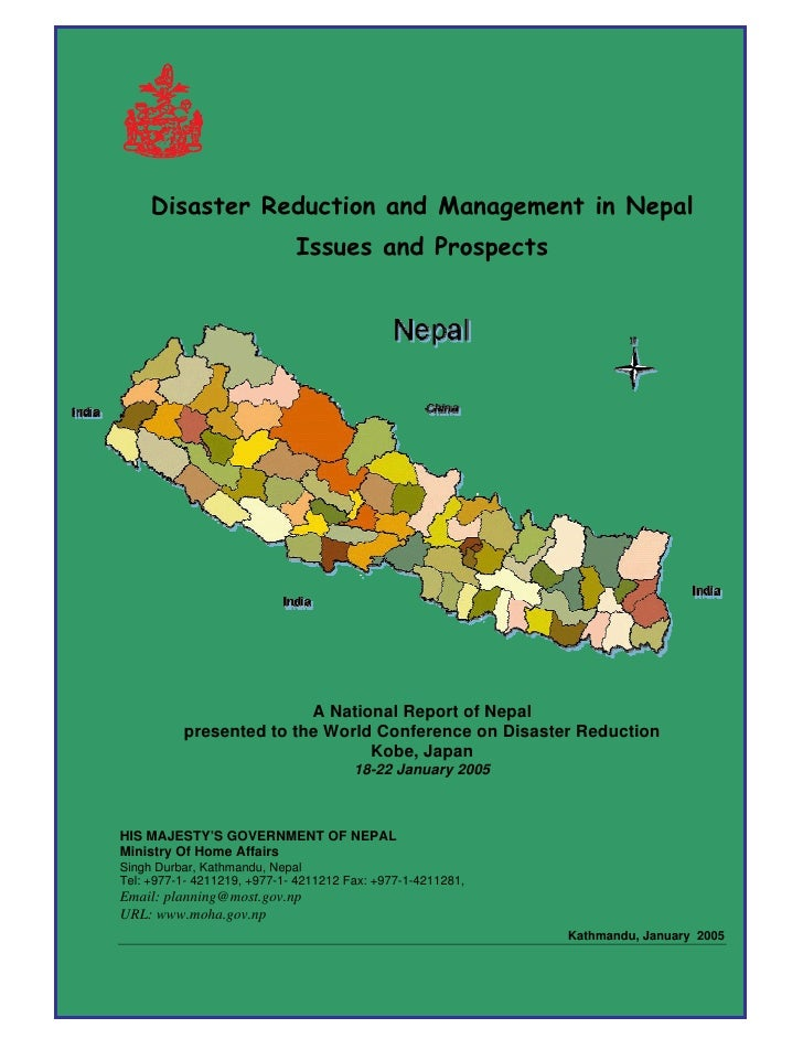 Disaster Reduction and Management in Nepal                              Issues and Prospects                              ...