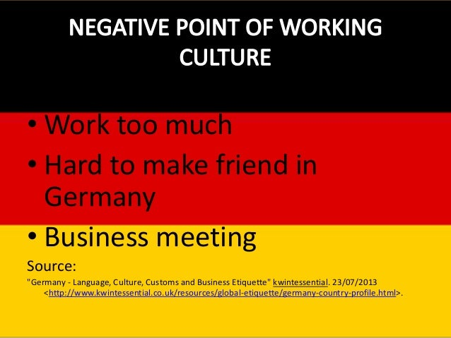 working culture of germany