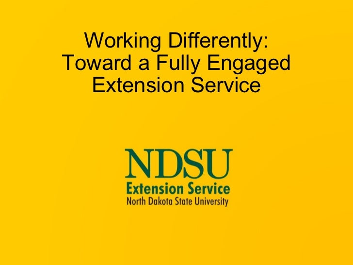 Working Differently: Toward a Fully Engaged Extension Service