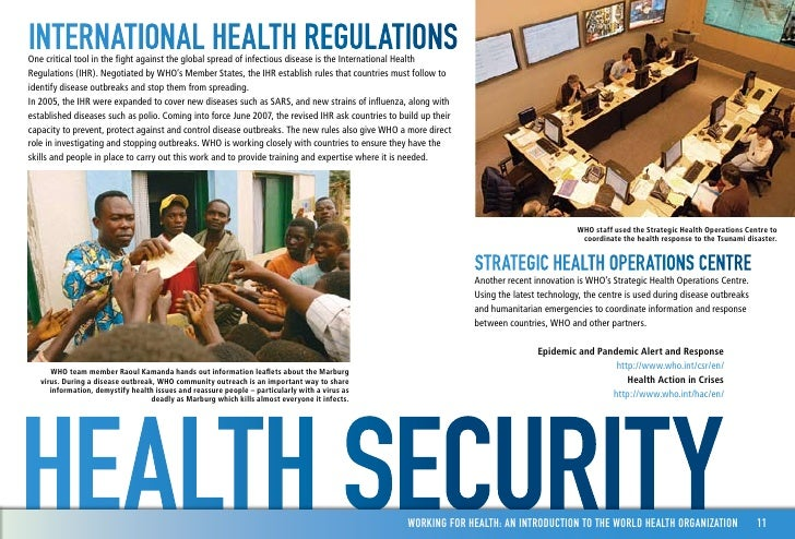 an introduction to the importance of the world health organisation Since the world health organization (who) was founded in 1948, the  development of many new institutions in the field challenges its original.