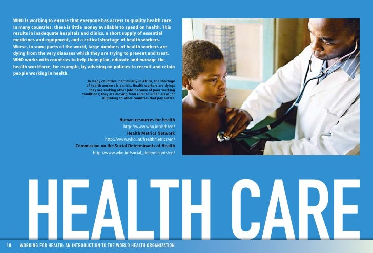 an introduction to healthcare organizations in the us Health care in the united states is provided by many distinct organizations health care facilities are largely owned and operated by private sector businesses 58% of us community hospitals.