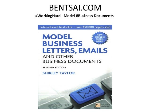 BENTSAI.COM#WorkingHard - Model #Business Documents