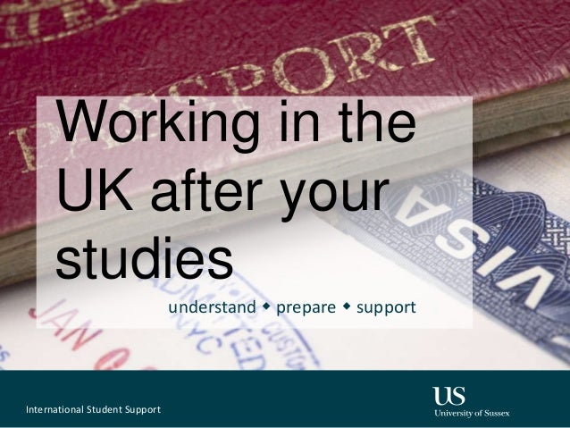 Working in the UK after your studies understand w prepare w support International Student Support