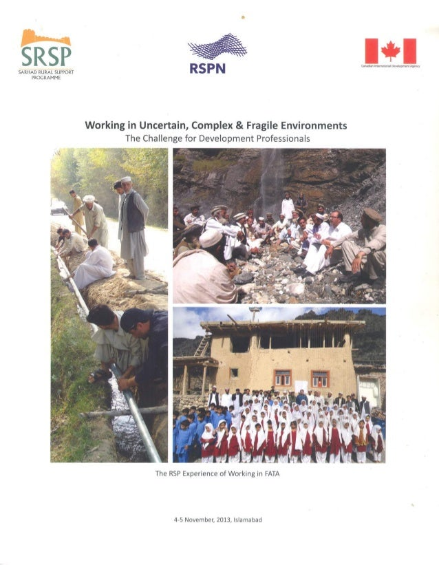 SRSP  SARHAD RURAL SUPPORT PROGRAMME  Canadian lnleuullonal Development Agency     Working in Uncertain,  Complex & Fragil...