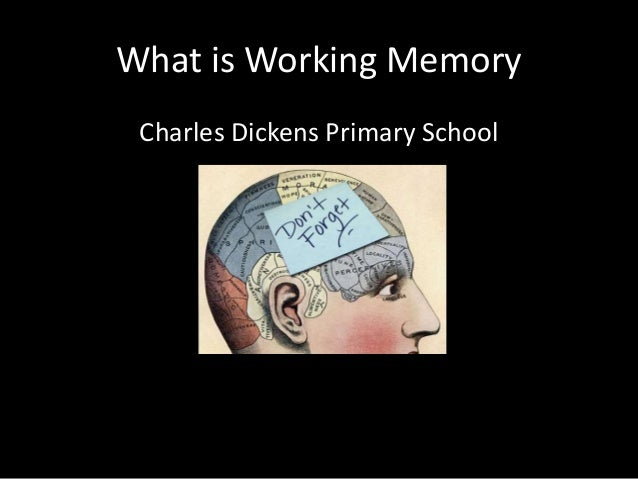 What is Working Memory Charles Dickens Primary School