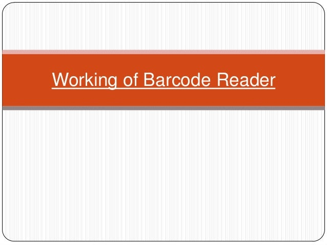 Working of Barcode Reader