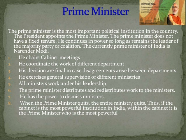 2. Ministers of State with Independent Charge: are usually in charge of smaller ministries. They participate in the cabine...