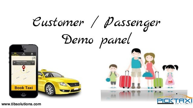 Working of PickTaxi Cab Booking App