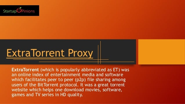 Working of the extra torrent proxy sites