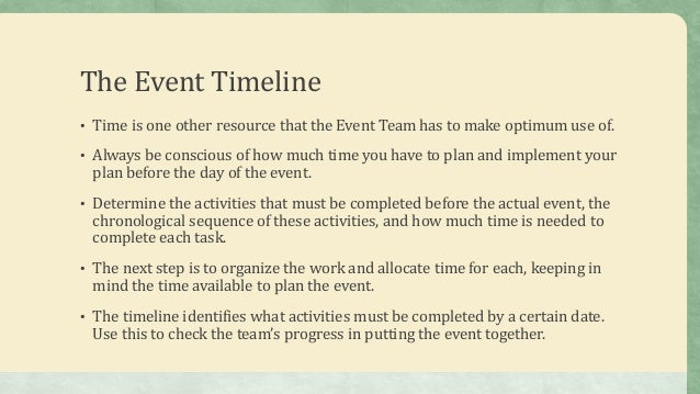 Working On The Event Budget And Timeline