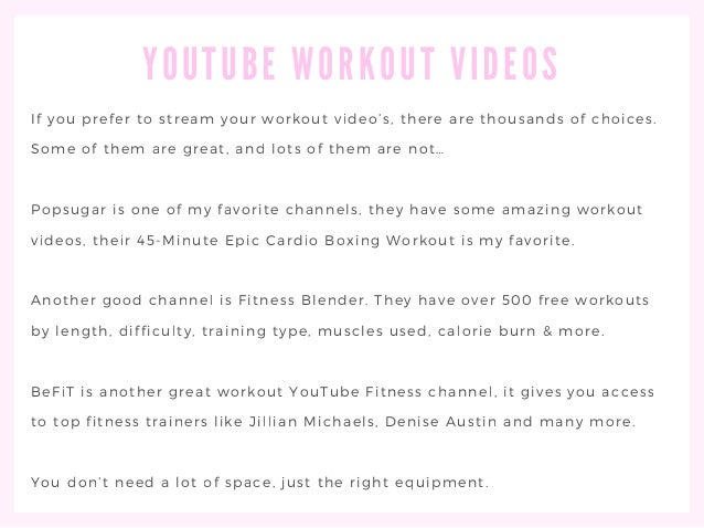 5. YOUTUBE WORKOUT ...