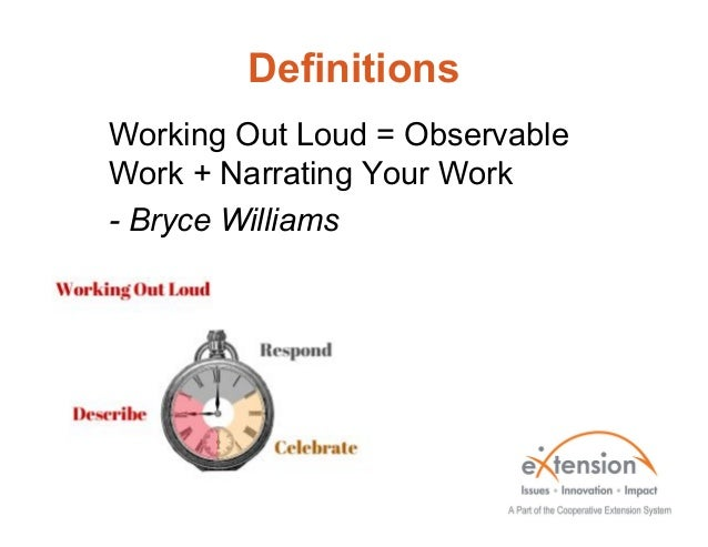 Working Out Loud Slide 3