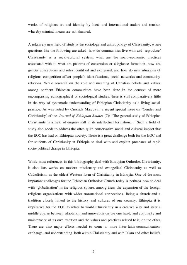 A Bibliography on Christianity in Ethiopia