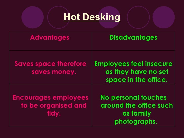 advantages and disadvantages of having working