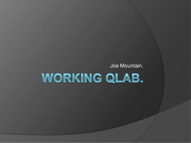 Working qlab