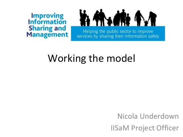 Working the modelNicola UnderdownIISaM Project Officer