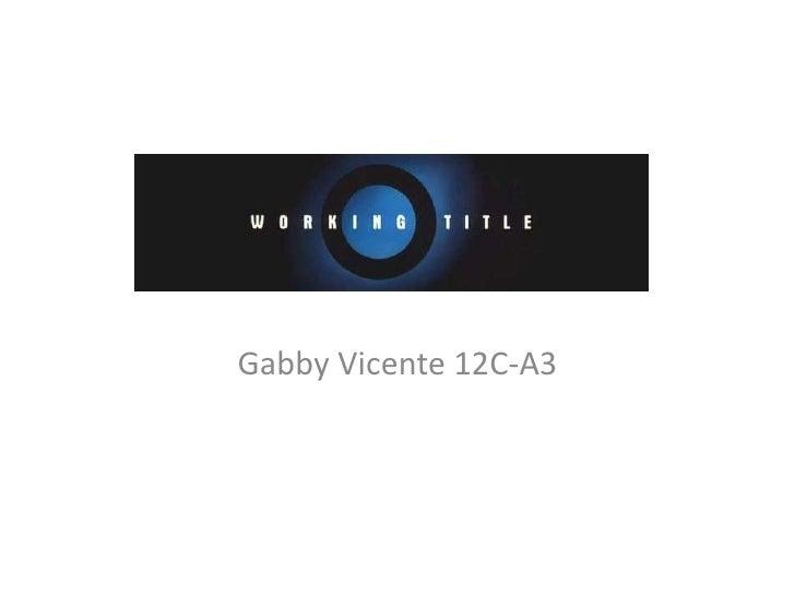 Gabby Vicente 12C-A3