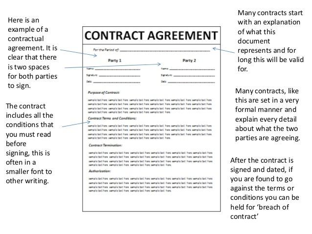 3. Here Is An Example Of A Contractual ...  Examples Of Contracts Between Two Businesses