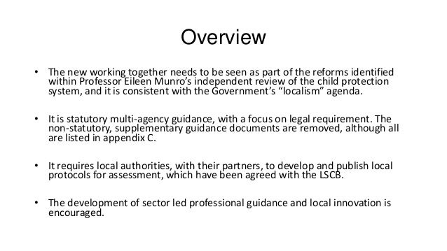 services which work together to safeguard Chapter 1 – introduction: working together to safeguard and promote the   structure of children's services under the children act 2004 are set.