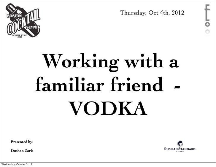 Thursday, Oct 4th, 2012                            Working with a                           familiar friend -             ...